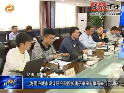 上海同济城市设计研究院院长唐子来率专家组来武当山调研