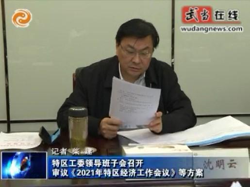 审议《2021年特区经济工作会议》等方案