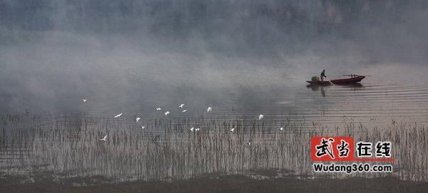 第三届中国武当国际摄影大展获奖作品(银质收藏):白鹭渔歌